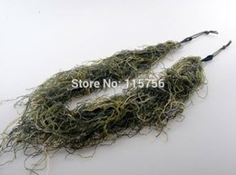 camouflage paintball 2019 - Camo 3D Rifle Gun Wrap Cover Use Elastic Strap For Camouflage Forest Hunting Ghillie suit for Sniper Hunting Paintball G