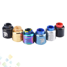 Discount original wotofo mod - Original Wotofo Warrior RDA 25mm Rebuilding Dripping Atomizer with 810 drip tip 6 colors Fit 510 Mod Ecig DHL Free