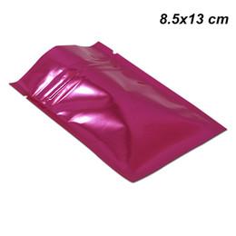 Colour Wire NZ - 8.5x13 cm Pink Colour Mylar Foil Zip Lock Packaging Bags for Kitchen Supplies Aluminum Foil Mylar Zipper Food Leakproof Pouch Foil Baggies