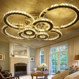 cool ceiling lights 2020 - Original Luxurious K9 Crystal Ceiling Light Dia60 80 100cm Round LED Chandelier for Living Room Dinning Room Restaurant