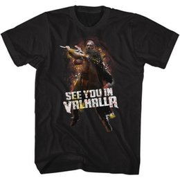 $enCountryForm.capitalKeyWord UK - Vikings See You In Valhalla Licensed Adult T Shirt History Drama Series TV Show Comfortable top tee Fresh Design Summer Good Quality