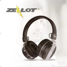 Material Headphones NZ - ZEALOT Wireless Bluetooth Headphones B17 Casque Over Ear Stereo TF Card16GB FM radio Foldable Flexible Design Audio Cable Metallic Material