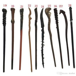 Pack Supplies Australia - DHL Hot Cosplay 28 Styles Hogwarts Potter Series Magic Wand New Upgrade Resin With Metal Core Wand Party Favor Gifts Box Pack WX9-410