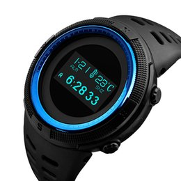 China SKMEI 1360 Fashion Sport Watch Men Waterproof Calorie Steps Mileage Digital PU Strap Watch Compass Wristwatch Relogio Masculino XFCS suppliers
