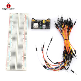 arduino modules NZ - Keyestudio KS0332 830 Tie-point Breadboard 65 Jumper Wires Power Module Set used for hardwares LED lights control