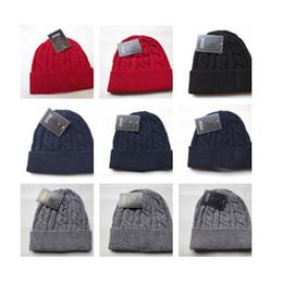 Red beanie foR women online shopping - Fashion Unisex Spring Winter Hats for Men women Knitted Beanie Wool Hat Man Knit Bonnet top quality Beanies hip hop Gorro Thicken Warm Cap