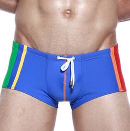 6636ca22d8004 Mens Swimwear Swimming Trunks Nylon Gay Swimsuit Mans Sportswear Beach Swim  Shorts Boxer Bathing Wear Seobean Brand Quality M-XL