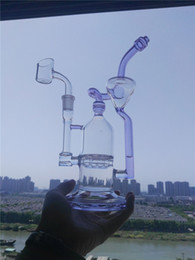 $enCountryForm.capitalKeyWord Australia - Double Chamber JM Flow SCI Glass Bongs Hot Sale Glass Water Pipes Klein Recycler Oil rigs Vortex Vapor Bong 14mm Joint Free Shipping