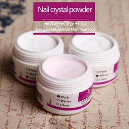 Wholesale Professional Acrylic Powder Crystal Nail Art Tip Builder Transparent Powder Crystal Liquid Manicure Pink White Clear 30g