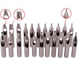Toptan satış Yüksek Kalite 22 ADET 304 Paslanmaz Çelik Dövme İpuçları Seti Dövme Memesi İpuçları Karışık Dövme Aksesuarları Ücretsiz Nakliye Için Set