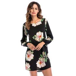 1fe9fe766ed6 Women Boho Dress Chiffon Floral Kimono Long Sleeve Ladies Wrap Holiday  Beach Summer Dress Print Casual Mini Vestido
