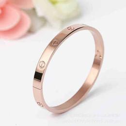 Braccialetto del polsino della vite placcato placcato oro rosa 18K del braccialetto del braccialetto del braccialetto di amore per i monili delle coppie delle donne