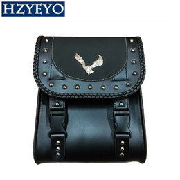 online shopping HZYEYO Faux Leather Bag Synthetic Handlebar Bags Front Fork Tool Bag for Harley Universal Motorcycle Luggage