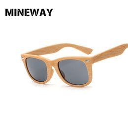 76105301ab9d MINEWAY Vintage Imitation wood Sunglasses Men Women Reflective Lens Wooden  Sun Glasses Female Bamboo Glasses Goggles