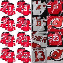 New Jersey Devils Jersey Taylor Hall Nico Hischier Kyle Palmieri Will  Butcher Jesper Bratt Miles Wood Sami Vatanen Travis Zajac Pavel Zacha 7b1261543