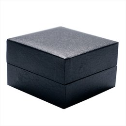 Wholesale Black Storage Leather Collection Watch Box Organizer Display Case Foam Pad Package Case Pillow Watch Jewelry