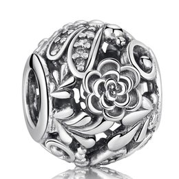 $enCountryForm.capitalKeyWord NZ - Dragonfly Meadow Charms Bead Authentic 925 Sterling-Silver-Jewelry Pave Crystal Flower Beads DIY Brand Bracelets Bangle Accessories HB281