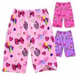 teens summer clothes 2019 - Girls Summer Pajama Pants Star bow print Casual Sleeping Pants Silk Comfortable Home Clothes Teen Kids Clothing For Loos