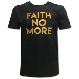 $enCountryForm.capitalKeyWord UK - Faith No More Men's Gold Text Slim Fit T-shirt Black Rockabilia Mens 2018 fashion Brand T Shirt O-Neck 100%cotton T-Shirt