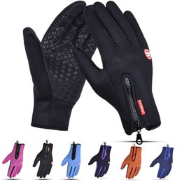 $enCountryForm.capitalKeyWord NZ - Windproof Outdoor Sport Gloves Skiing Cycling Hiking Gloves Touch Screen Winter Motorcycle Racing Bike Gloves Keep Warm