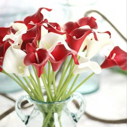 Chinese  33 Colors PU Calla Lily Artificial Flower Bouquet Real Touch Party Wedding Decorations Fake Flowers Home Decor 35cm*6cm manufacturers
