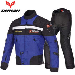 $enCountryForm.capitalKeyWord Australia - Free shipping 1set Winter Motorbike Textile Suit Windproof Warm Off-road Motocross Oxford Body Armor Motorcycle Jacket and Pants