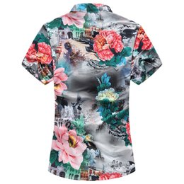 $enCountryForm.capitalKeyWord Canada - New Plus Size 7xl men floral shirt Summer Fashion Men's Shirt Slim Fit Men Short Sleeve Floral Shirts Mens Clothes Trend Casual