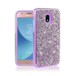bling cases rhinestones 2019 - Hybrid 2 in 1 Diamond Rhinestone Bling Glitter Phone Case For iPhone XR XS MAX Samsung J3 J7 2018 S9 LG Stylo 4 discount