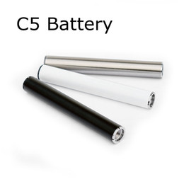 Discount cigarette automatic battery - C5 Vape Pens Battery 510 Thread Preheat Batteries 350mAh for E cigarette TH205 Cartridges 92A3 Glass Tank Automatic E ci