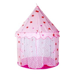 China Portable Foldable Play Tent Prince Folding Tent Kids Children Boy Castle Princess Castle Play House Kids Gifts Outdoor Toy Tents cheap play boy gifts suppliers