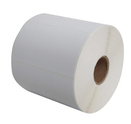 China 90*50 mm 1000 pcs roll blank or white paper free shipping barcode self adhesive sticker label suppliers