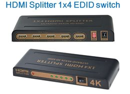 hdmi 2k Australia - HDMI splitter 1x4 4k x 2k 3D 1080p with EDID function switch 3D 1080p to 4K at any time 1 in 4 out splitter Amplifier with Power Supply