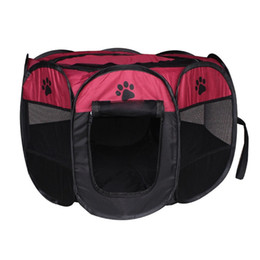 TenT waTerproofing online shopping - Folding Dog Cat Tent Oxford Cloth Octagonal Pet Fence Multi Color Waterproof Scratch Resistance Puppy House New hz2 Z RW