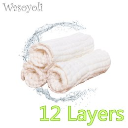 $enCountryForm.capitalKeyWord NZ - 1 Piece Wasoyoli 12 Layers Baby White Blanket 90*110cm 100% Seersucker Muslin Cotton Soft swaddles Newborn Baby Bath Robe Hold Wraps