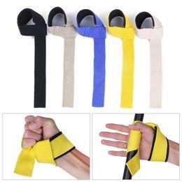 $enCountryForm.capitalKeyWord NZ - 2pcs Non-Slip Grip Unisex Wrist Support Wraps Weight Lifting Straps Hand Bar Bodybuilding Crossfit Barbells Training Gym Tool