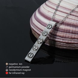 Magnetic Pendant Necklaces NZ - LITTLE FROG Magnetic Therapy Scalar Quantum Energy Ions Pendant for Men Necklace Crystals Stainless Steel Necklaces & Pendants