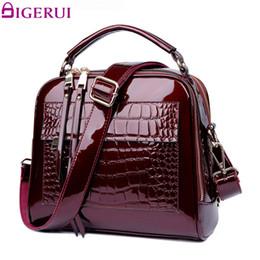 $enCountryForm.capitalKeyWord Canada - DIGERUI New Women Bag Patent Leather Handbags Crocodile Vintage Women Totes Bag Female Luxurious Shoulder Bags Totes DH0160