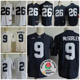 NCAA Penn State Nittany Lions College 26 Saquon Barkley 2 Allen 88 Gesicki Paterno  9 Trace McSorley 22 Akeel Lynch BIG Ten Football Jerseys 00bc5934a