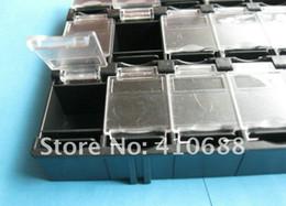 Black Blocks Australia - 1 Pcs SMD SMT Electronic Component Mini storage box 24(3*8) lattice blocks 156x105x18mm Black Color T-156