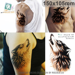 c3dd2ba3e2274 Woman Wolf Tattoo Canada - individuality waterproof temporary tattoos for  men and women Wolf roar design