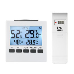Station Wireless Controllers Australia - Indoor Outdoor Wireless Weather Station LCD Digital Thermometer Hygrometer Temperature Humidity Meter Thermoregulator