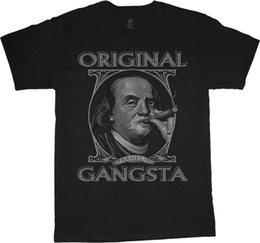 Tall Tee Men NZ - big and tall t-shirt Benjamin Franklin Gangster tee shirt tall shirts for men