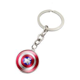 superhero glasses 2019 - Marvel & DC Super Hero Key Ring Time Gem Captain America Superman Etc Superhero Glass Pendant Key Chain Fashion Party Ho