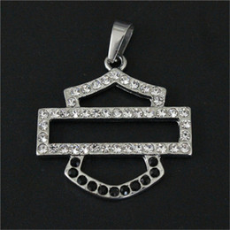5pcs lot Biker Style Crystal Unisex Pendant 316L Stainless Steel Jewelry Popular Hot Selling Motorcycles Pendant on Sale