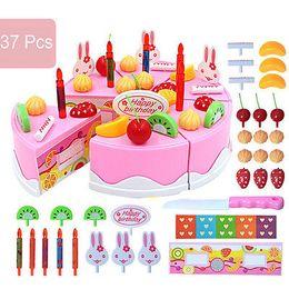 $enCountryForm.capitalKeyWord NZ - 37pcs sets 2017 Kids DIY Birthday Cake Pretend Play Toys Plastic Model 3+ Children Educational Classic Kitchen Toy