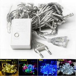 Rgb chRistmas stRing lights online shopping - Decoration Christmas led string lights m for Each Set W holiday wedding party Lightings rgb Promotion LED string lamp