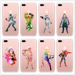 Super heroeS iphone caSe online shopping - Transparent Soft Tpu Case for Iphone X plus Samsung Galaxy S7 edge s8 Note The Avengers Super Hero Movie Marvel Phone Cases