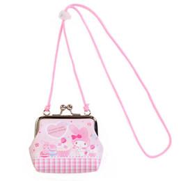 2efb537ed Cute Cartoon My Melody Hello Kitty Mini Messenger Bag Crossbody Bags for  Baby Girls Shoulder Sling Bag Hasp Coin Purse Wallet