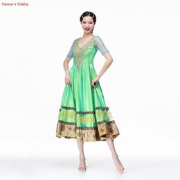 $enCountryForm.capitalKeyWord Australia - Light Green Waltz Dress Rumba Standard Smooth Prom Dresses Standard Social Dress Ballroom Dance Competition Dancing unifom