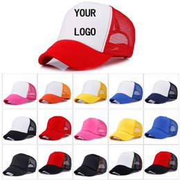 Discount cheap white caps wholesale - Factory Price! Free Custom LOGO Cheap 100% Polyester Men Women Baseball Cap Blank Mesh Baseball Hat